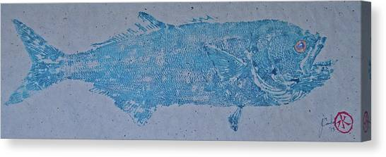 Bluefish - Chopper- Aligator Blue - Canvas Print