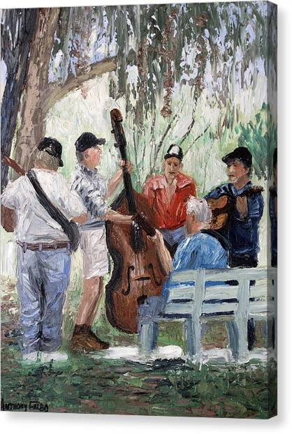 Bluegrass Canvas Print - Bluegrass In The Park by Anthony Falbo