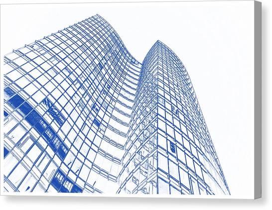architecture blueprints skyscraper. Unique Blueprints Architectural Blueprint Canvas Print  Drawing Of Skyscraper  Glass Facades Modern Facade By Celestial Images For Architecture Blueprints