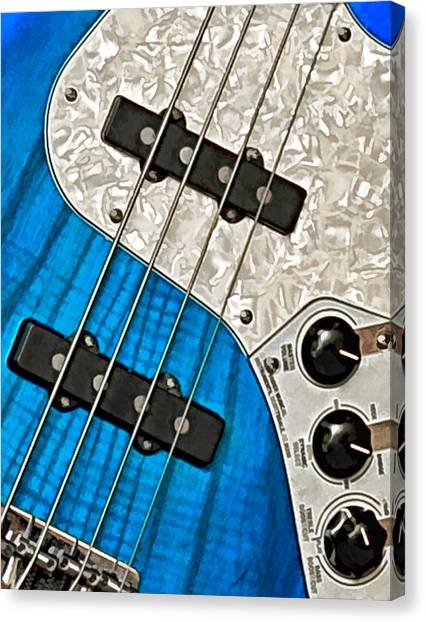 Blues Bass Canvas Print