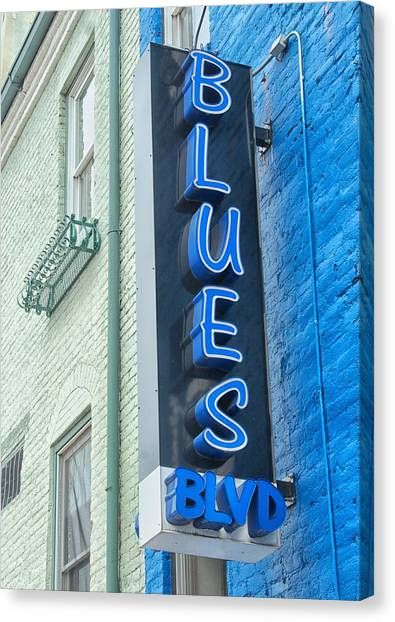 Blues Blvd Canvas Print by Blaine Owens Photography