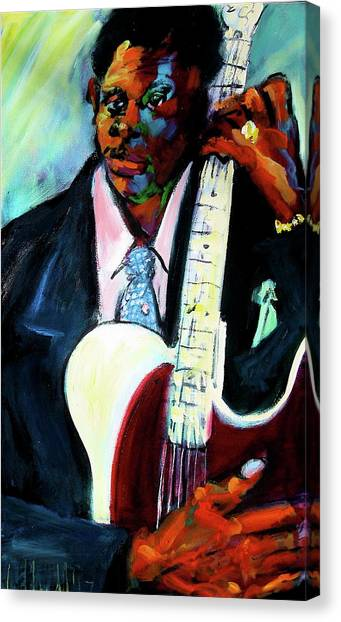 Blues Boy Canvas Print