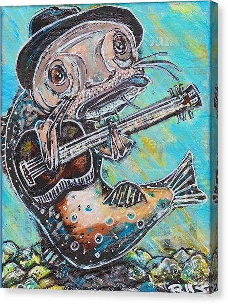 Blues Cat Revisited Canvas Print