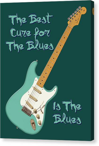 Blues Cure Seafoam Canvas Print