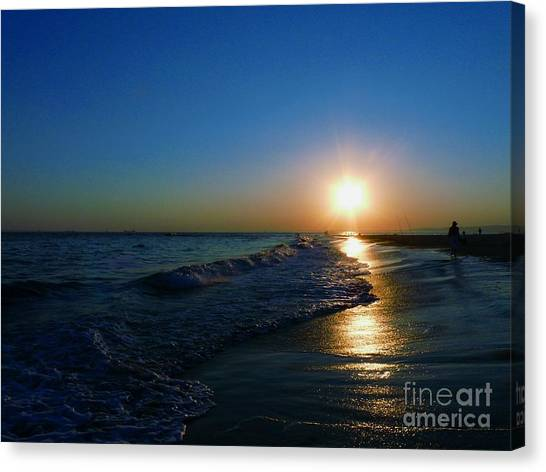 Blues In The Evening Canvas Print
