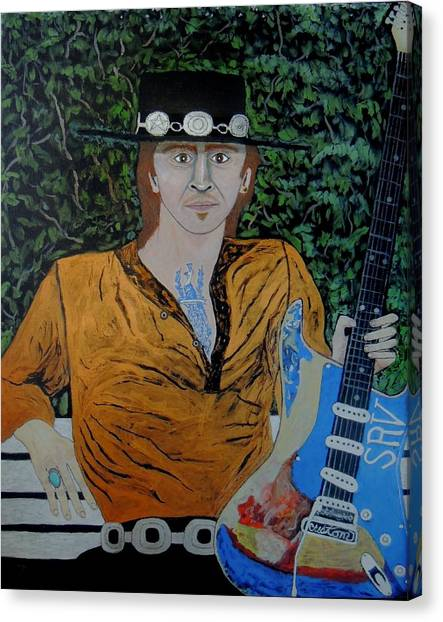 Blues In The Park With Srv. Canvas Print
