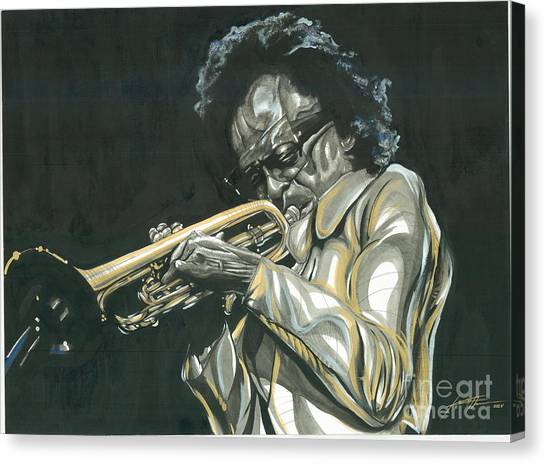 Blues Miles Canvas Print by Keith  Thurman