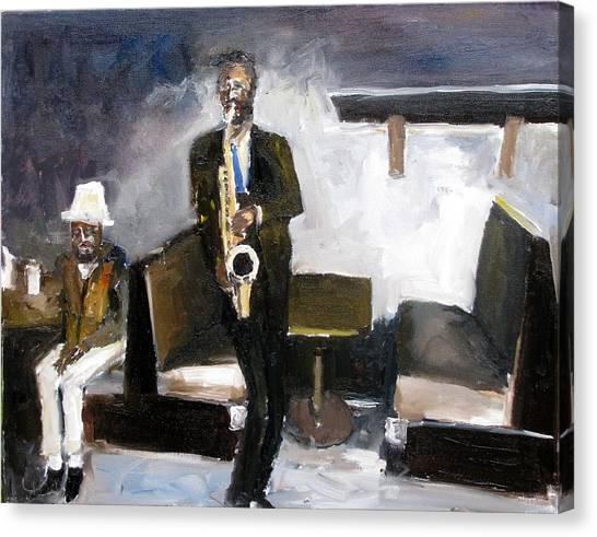 Blues Night Canvas Print by Udi Peled