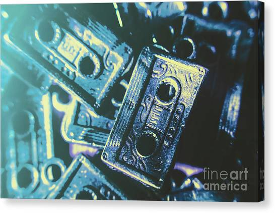 80s Canvas Print - Blues On Cassette by Jorgo Photography - Wall Art Gallery
