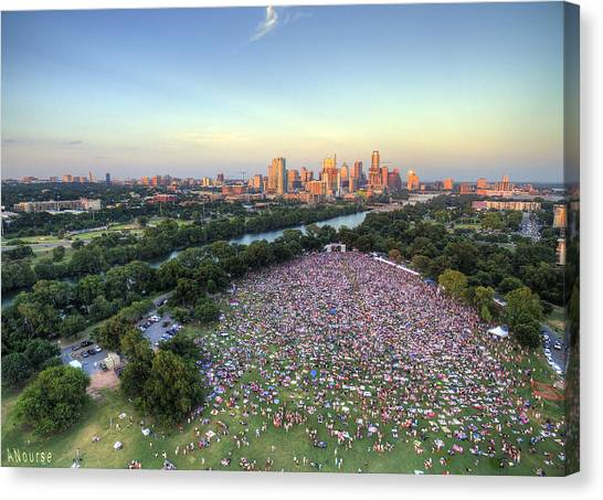 Blues On The Green With Bob Schneider Canvas Print