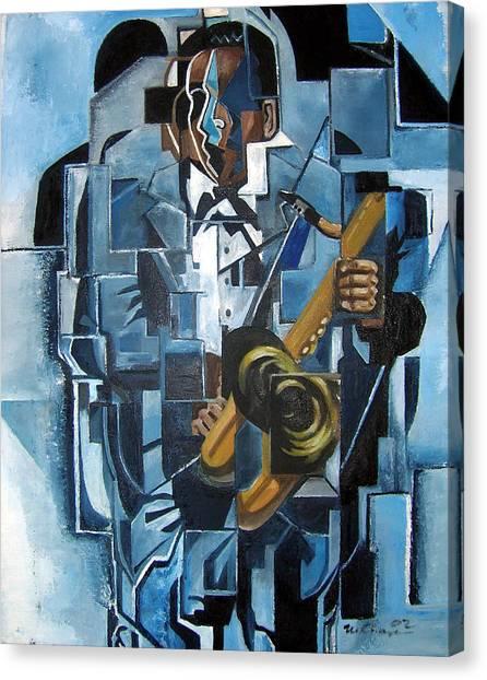 Blues Trane Canvas Print by Martel Chapman