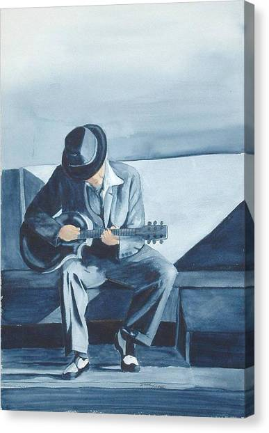 Bluesman Canvas Print