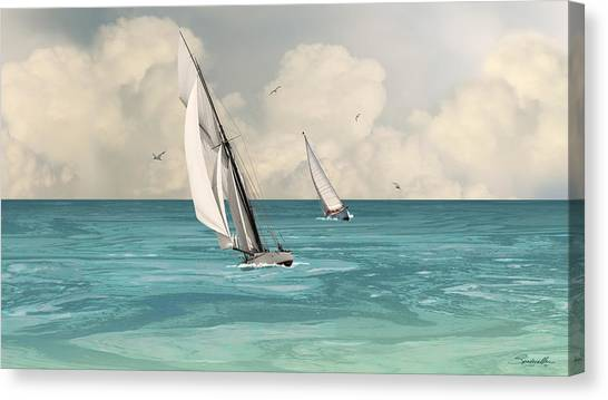 Bluewater Cruising Sailboats Canvas Print