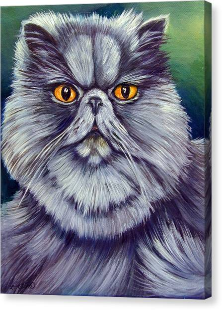 Himalayan Cats Canvas Print - Bluey Kitty by Lyn Cook