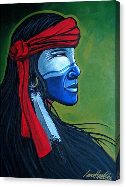 Bluface Canvas Print
