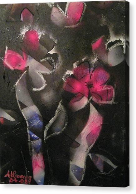 Blumen Aus Berlin Canvas Print by Andrea Noel Kroenig