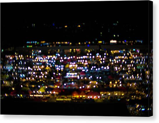 Blurred City Lights  Canvas Print