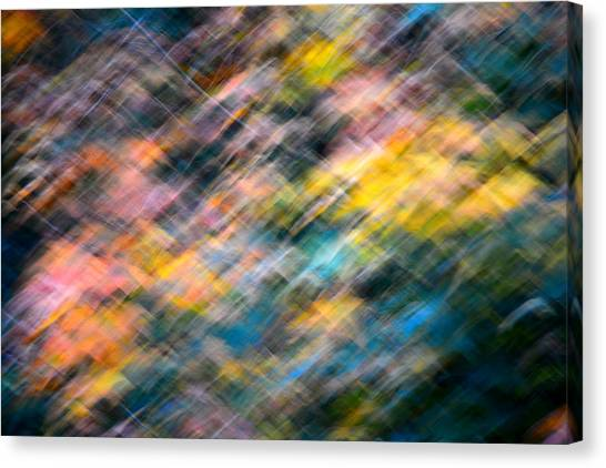 Blurred Leaf Abstract 1 Canvas Print