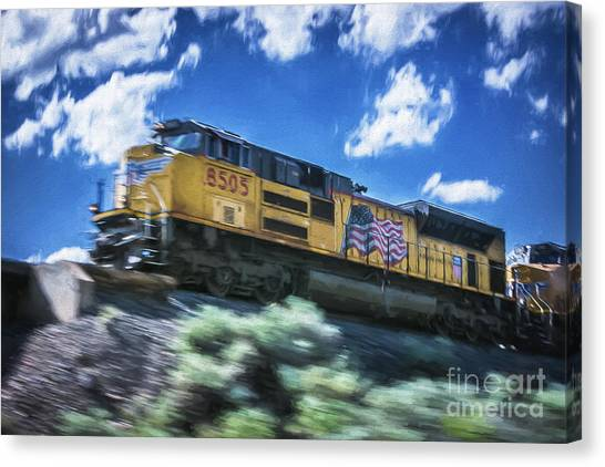 Blurred Rails Canvas Print