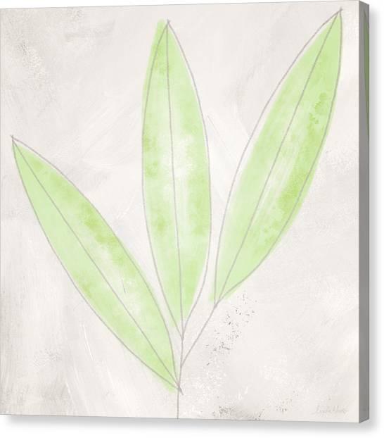 Bamboo Canvas Print - Blush Bamboo- Art By Linda Woods by Linda Woods