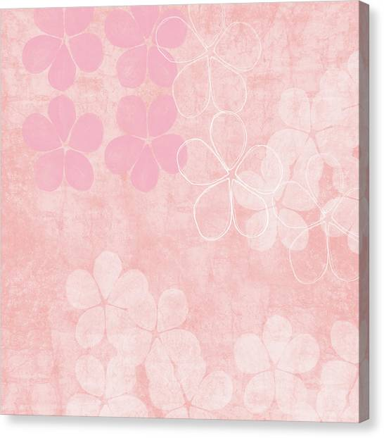 Pretty Flowers Canvas Print - Blush Blossoms 1- Art By Linda Woods by Linda Woods