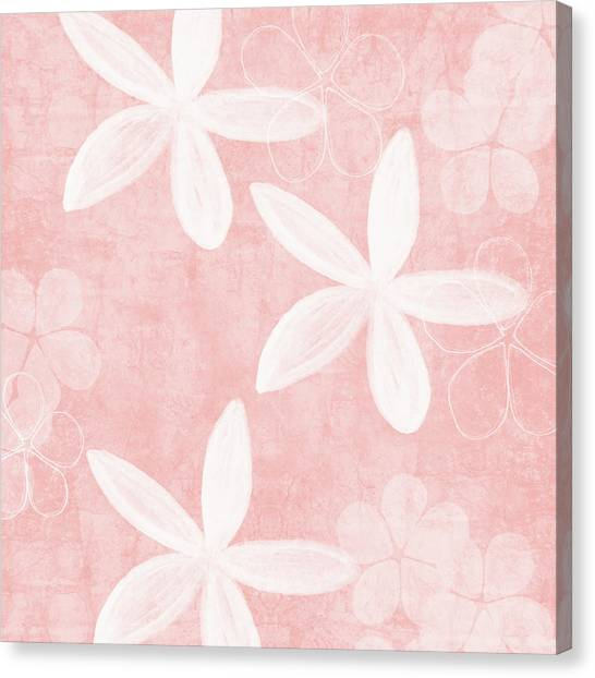 Simple Canvas Print - Blush Blossoms 3- Art By Linda Woods by Linda Woods
