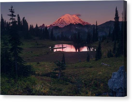 Canvas Print featuring the photograph Morning Blush by Gene Garnace