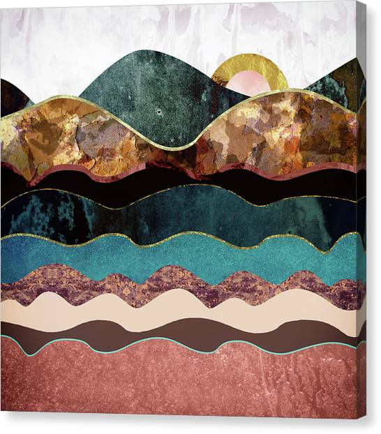 Landscapes Canvas Print - Blush Moon by Katherine Smit