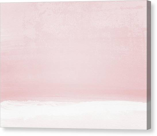Soothing Canvas Print - Blush Sunset- Art By Linda Woods by Linda Woods