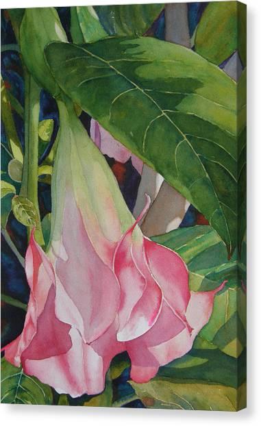 Blushing Angel Canvas Print