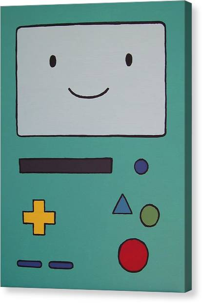 Gameboy Canvas Print - BMO by Andy White