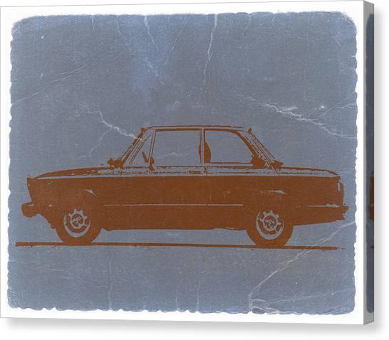 Bmw Canvas Print - Bmw 2002 Orange by Naxart Studio