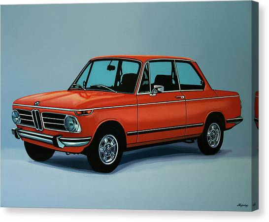 Realism Art Canvas Print - Bmw 2002 1968 Painting by Paul Meijering