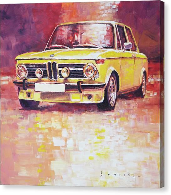 Automotive Art Canvas Print - Bmw 2002 Turbo by Yuriy Shevchuk
