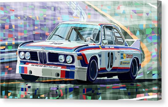 Classic Canvas Print - Bmw 3 0 Csl 1st Spa 24hrs 1973 Quester Hezemans by Yuriy Shevchuk