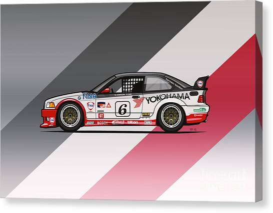 Planet Canvas Print - Bmw 3 Series E36 M3 Gts-2 Ptg Race Car by Monkey Crisis On Mars