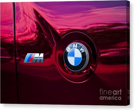 Bmw M3 Badges Canvas Print
