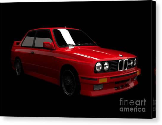 Bmw M3 E30 Canvas Print