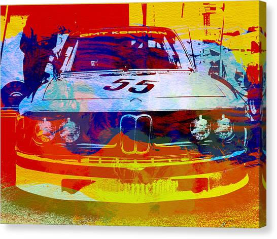 Automobiles Canvas Print - Bmw Racing by Naxart Studio