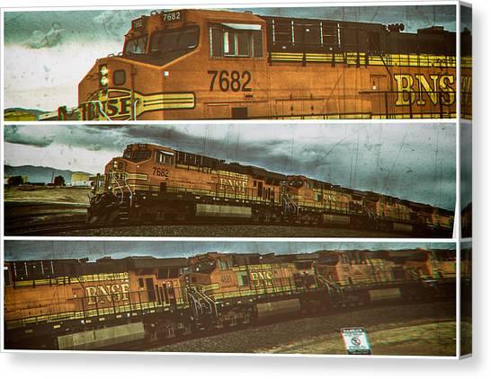 Bnsf 7682 Triptych  Canvas Print