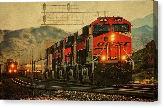 Bnsf Ground Shaker Canvas Print
