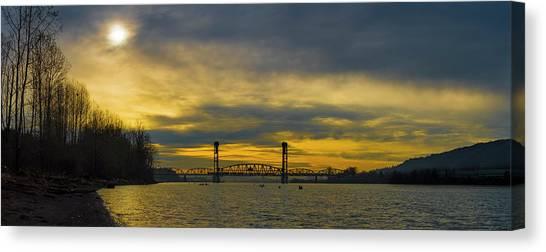 Bnsf Railroad Bridge 5.1 Canvas Print