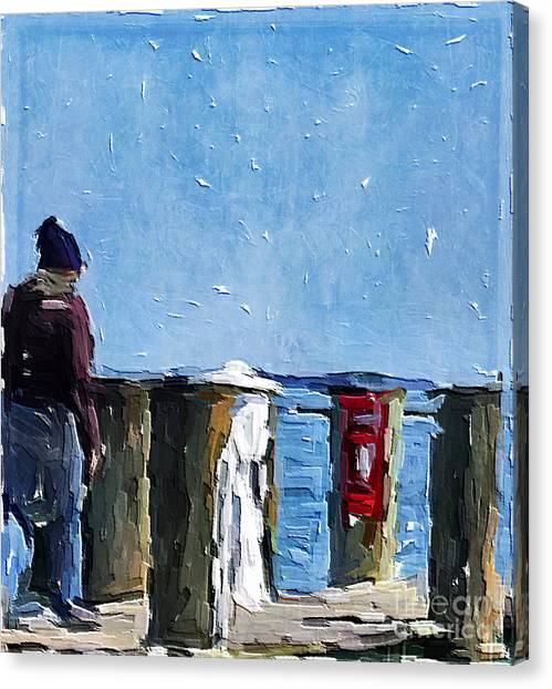 Boarding The Skipjack Canvas Print