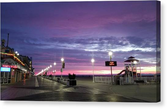 Canvas Print featuring the photograph Boards Under Colorful Skies by Robert Banach