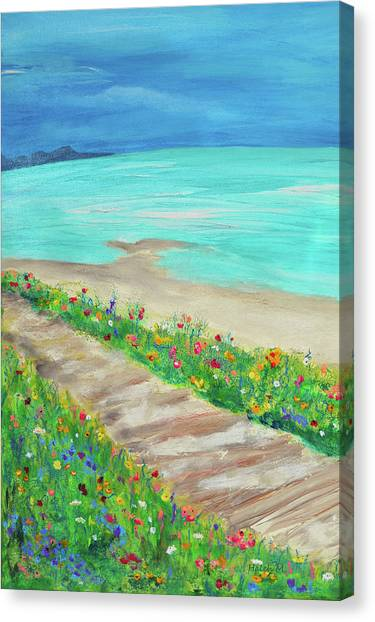 Boardwalk In Carmel Canvas Print