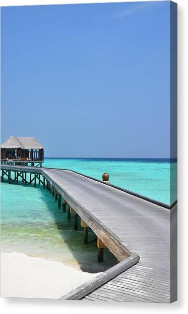 Boardwalk In Paradise Canvas Print