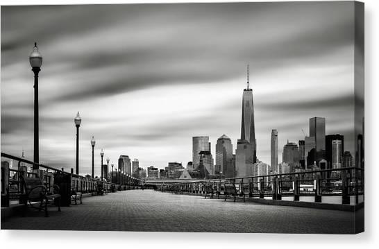 Boardwalk Into The City Canvas Print