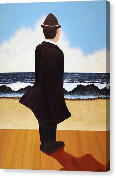 Boardwalk Man Canvas Print