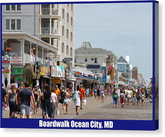 Boardwalk Ocean City Md Canvas Print