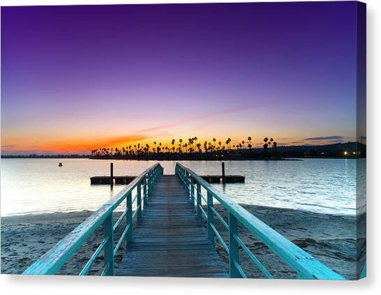 Missions California Canvas Print - Boardwalk Of Enlightenment by Sean Davey